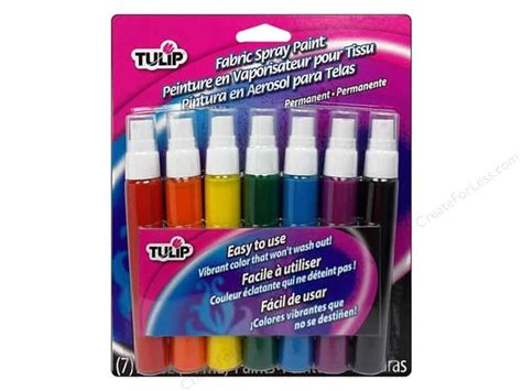 Tulip Fabric Spray Paint Pack Card Rainbow 7pc