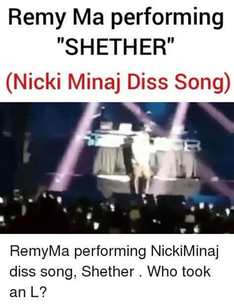 Diss Memes - remy ma performing shether nicki minaj diss songo remyma