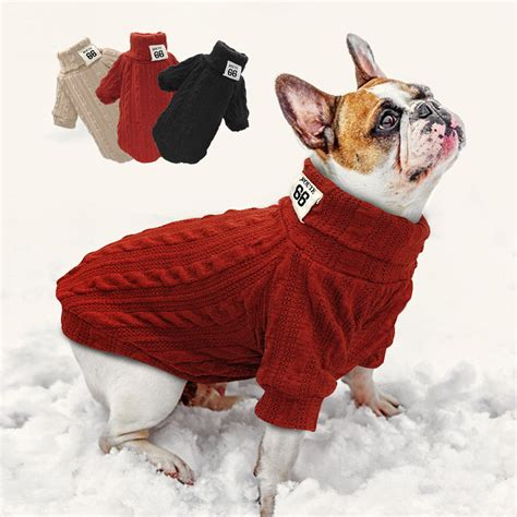 Stay Warm With Winter Sweaters by Puppy Knit Sweater Pet Cat Warm Winter Classic