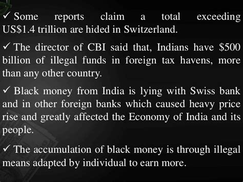 Unknown Deposit In Checking Account Says Mba Claims by Black Money In Indian Economy