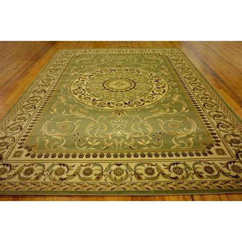 Charlton Home Oskar Light Green Area Rug Reviews Wayfair Throw Rugs