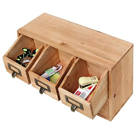 Wooden Desktop Drawers by Rustic Desktop Wooden Office Organizer Drawers Craft