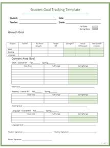 Goal Tracker Template by Doc 580640 Sle Goal Tracking Goal Setting Template