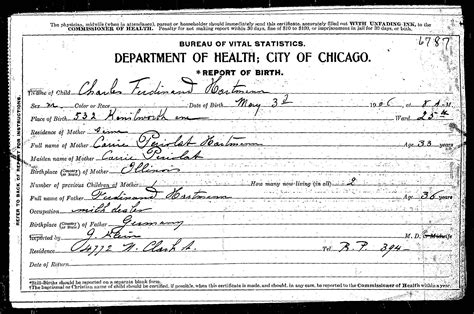 Birth Records Illinois Periolat One Name Study Illinois Cook County Birth Certificates 1878 1922 Database