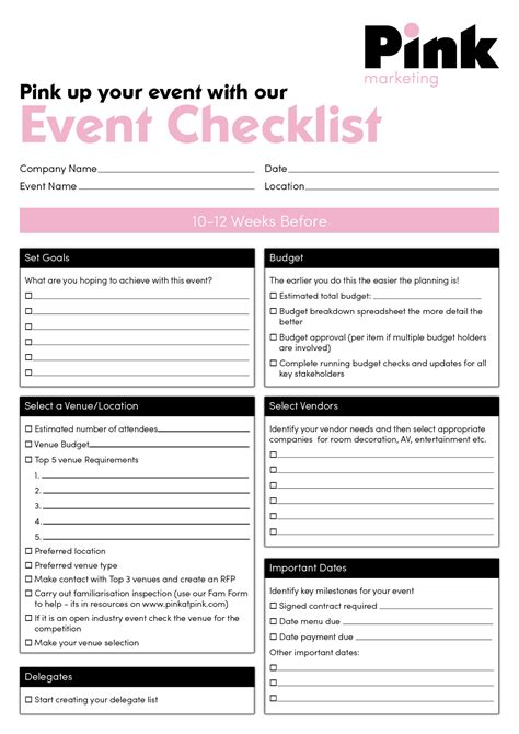 Plan Event Planning Checklist Event Planning Checklist Corporate Event Planning Checklist Template