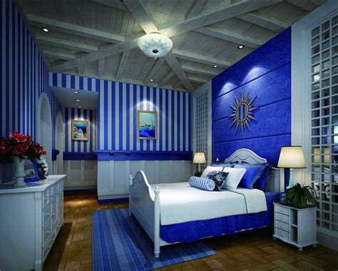 interior design inspiration photos by blue water home royal blue painted bed room blue and coral bedroom royal