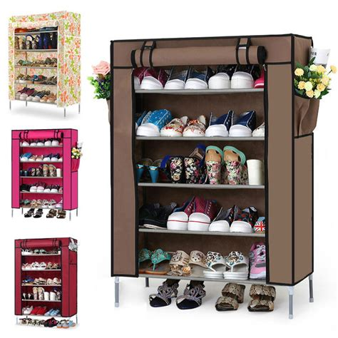 living room shoe storage 6 layers non woven fabrics shoe rack shoe cabinet for