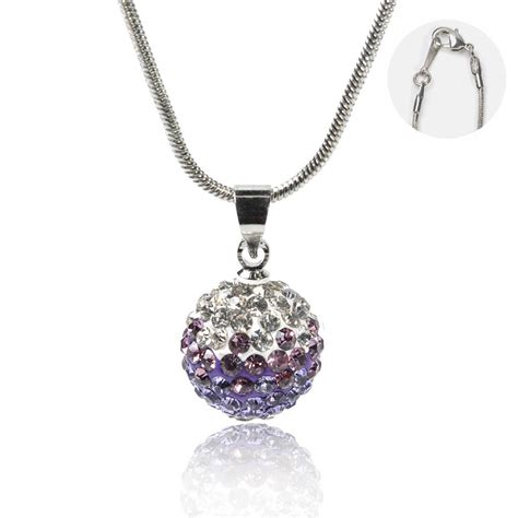 purple lotus disco pendant necklace with snake chain