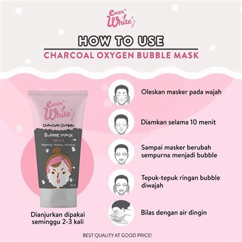 everwhite charcoal bubble mask masker  memutihkan wajah