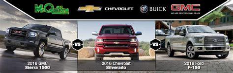 GMC, Chevrolet, & Ford Pickup Truck Comparison   McQuillen