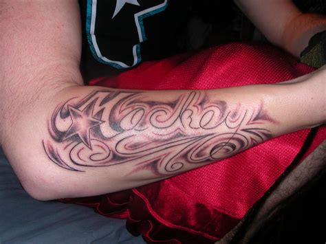 tattoo of my name my last name picture
