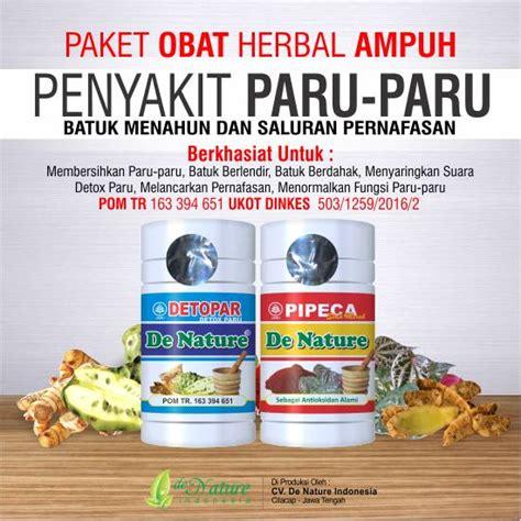 Obat Sesak Paru Paru Tbc Detopar Dan Pipeca De Nature 1 pengobatan untuk batuk tb paru obat infeksi paru paru herbal