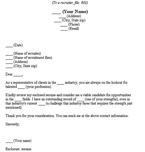 Cover Letter Fill In fill in the blank cover letters recruiters fill in the