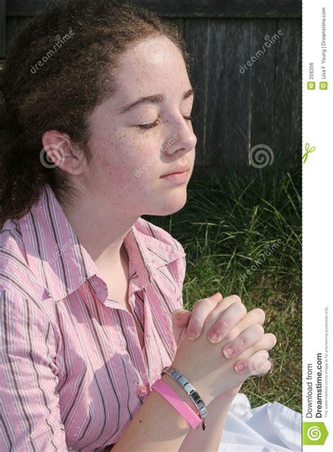 cute teenagers cute teen praying 2 royalty free stock image image 256356
