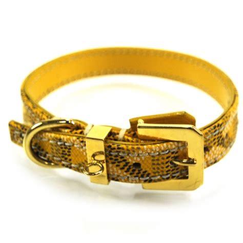GOYARD Chevron Dog Collar Small Bracelet Yellow 20749