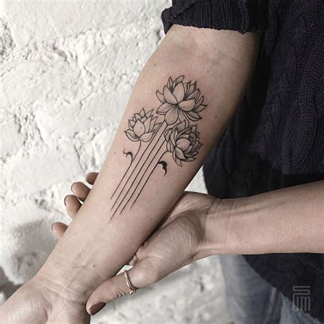 fine lines tattoo floral dotwork and line tattoos by dasha sumkina
