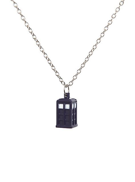 doctor who tardis necklace topic