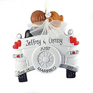 amazon com just married christmas ornament old fashioned