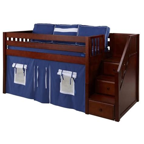 maxtrix loft bed maxtrix great playhouse loft bed in chestnut w stairs