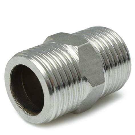 Pipa Nepple Ss304 Stainless Steel 1 2 Inch 20cm 1 2 inch stainless steel pipe fitting connector alex nld