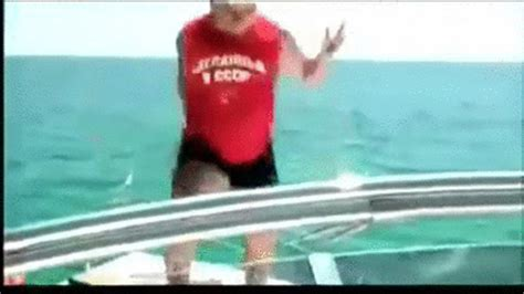 the boat drunks drunk guy jumps off a boat on make a gif