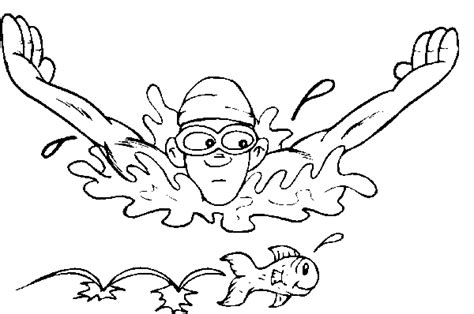swimming coloring pages free coloring pages of swimmer