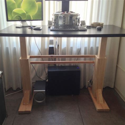 pdf diy adjustable stand up desk plans adirondack