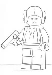 Dibujo De Princesa Leia De Lego Para Colorear Dibujos Lego Princess Coloring Pages Free Coloring Sheets