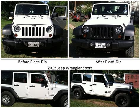 plasti dip jeep white jeep mod plasti dipped wheels door hinges front