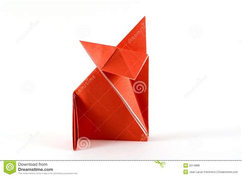 fox folding origami royalty free stock image image 5014886