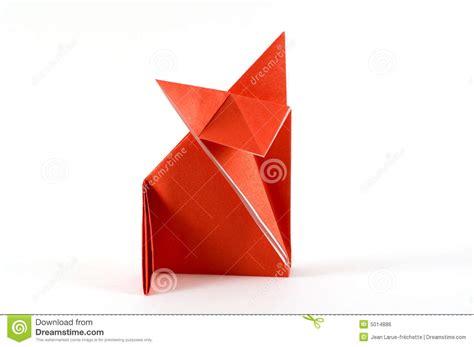 Origami Folding - fox folding origami royalty free stock image image 5014886