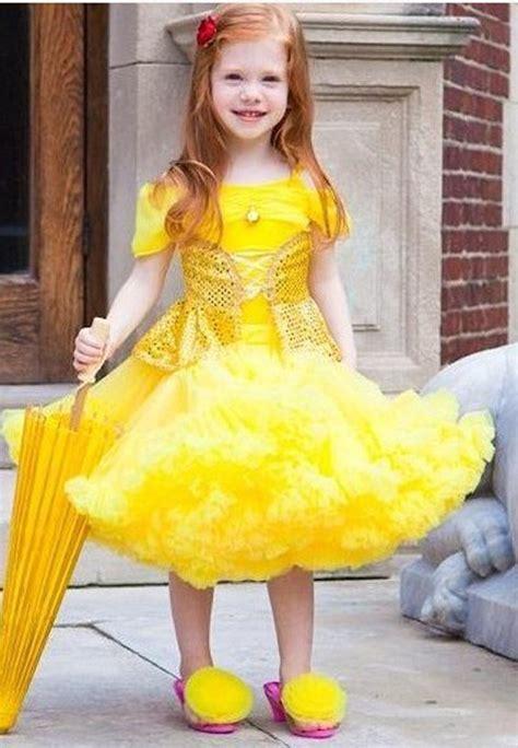 Dress Tutu Anak Yellow White Komplit Princess Dress Baby Toddler Children Costume