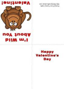 how to make a monkey printable s day card free printable valentines day cards templates