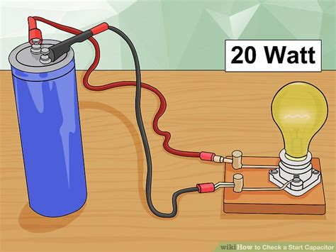 motor run capacitor how to test the best way to check a start capacitor wikihow