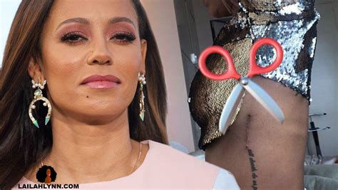 mel b slices off tattoo of ex husband stephen belafonte