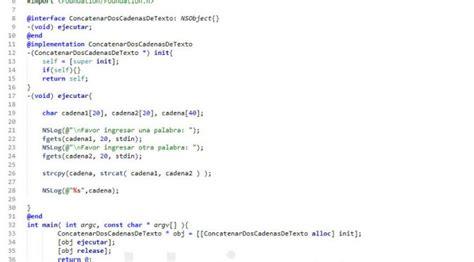 concatenar cadenas en c poo objective c concatenar dos cadenas de texto