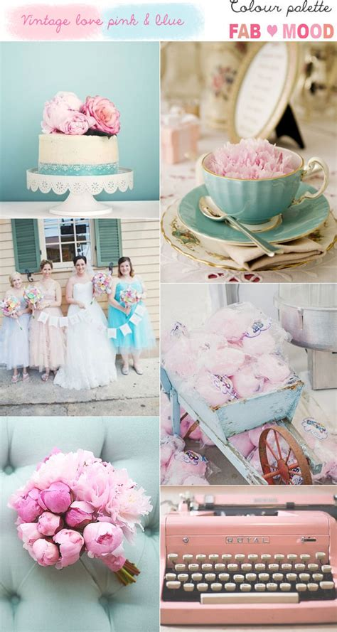 Blush Pink Decor by Vintage Pink And Blue Wedding
