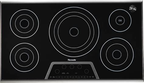 Thermador Electric Cooktop - thermador ces365fs 36 quot masterpiece electric cooktop black