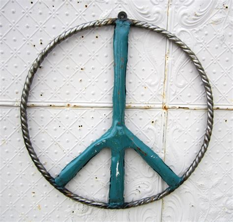 metal peace sign wall decor 24 quot braided metal peace sign wall