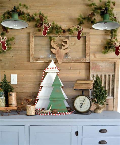 diy rustic christmas tree decoration my creative days