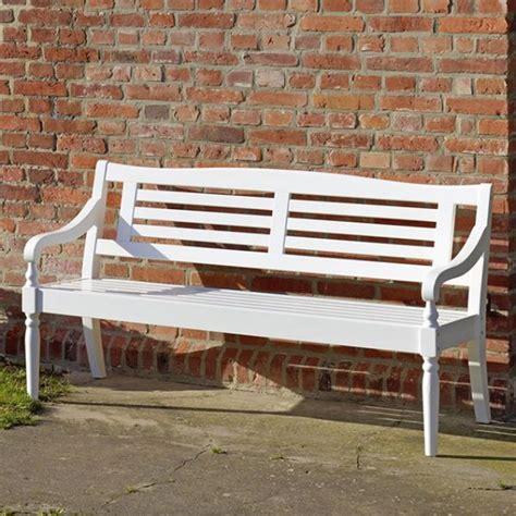 bank outdoor 3 sitzer bank weiss gartenbank sitzbank outdoor bank