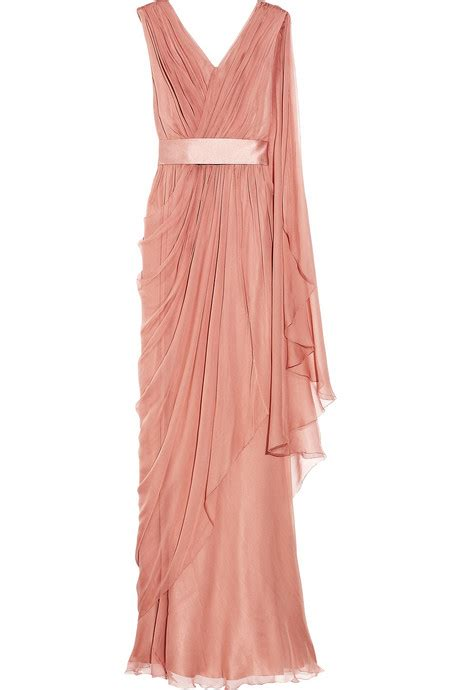 drape gowns alberta ferretti draped silk chiffon gown clothes fashion