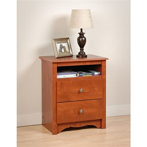 nightstand dog bed cherry monterey tall 2 drawer nightstand with open shelf