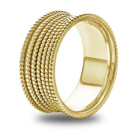 14k Gold Wedding Band by 14k 18k White Or Yellow Gold Graduated Milgrain Womens