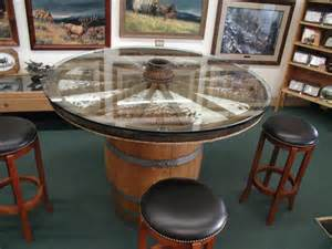 wagon wheel table on wagon wheel chandelier