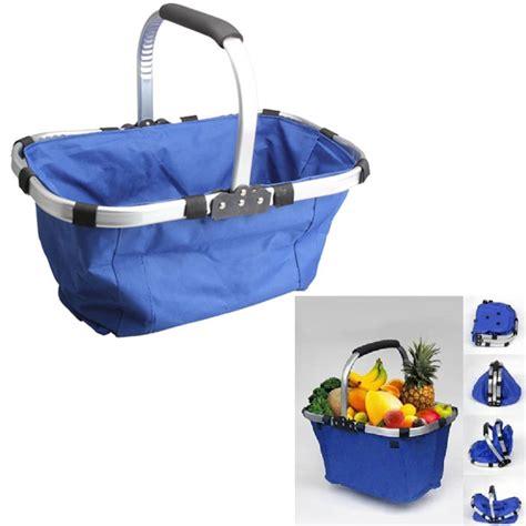 Keranjang Lipat Multi Fungsi Berkualitas keranjang belanja lipat portable shopping bag blue