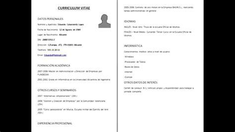 Modelo Curricular Formal Como Hacer Un Curriculum Vitae Como Hacer Un Curriculum Formal