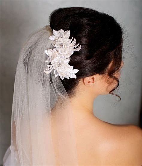 Sirkam C6 Hair Comb C6 ivory hair flowers lace headpiece bridal hair flowers bridal hairpiece ivory hair