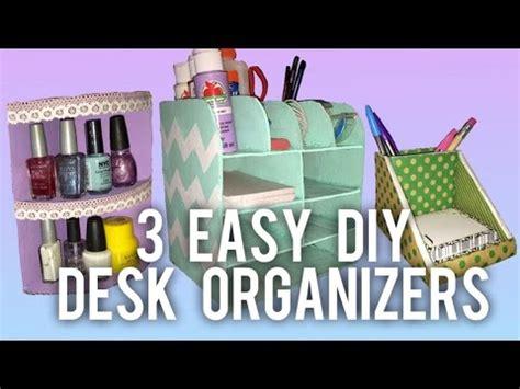 desk organizer ideas 3 easy diy desk organizer ideas