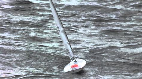 sailboat in storm rc laser sailboat with storm rig d sail youtube
